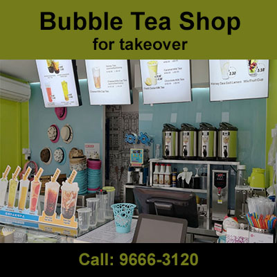 bubble tea shop for takeover